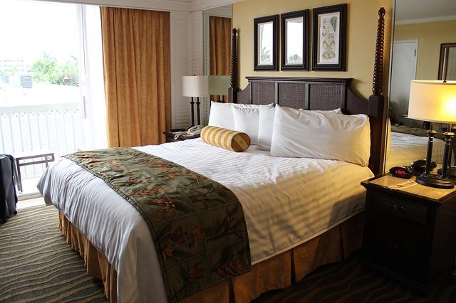 pokoj, hotel, postel